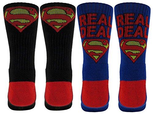 superman-mens-real-deal-athletic-crew-socks-2-pair-blue