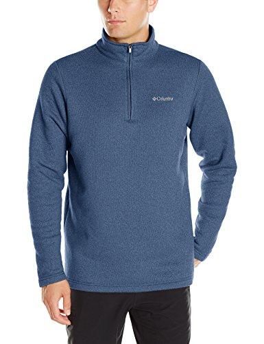 Columbia Men's Hart Mountain III Half Zip, Carbon Heather, - Cotton Columbia Sweater