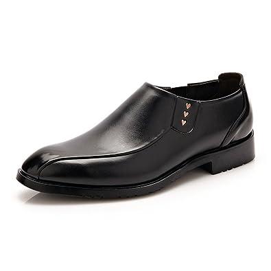 Herren Halbschuhe Leder Schuhe Oxford Klassische PU-Lederschuhe Schwarz 41 EU QEyRMW