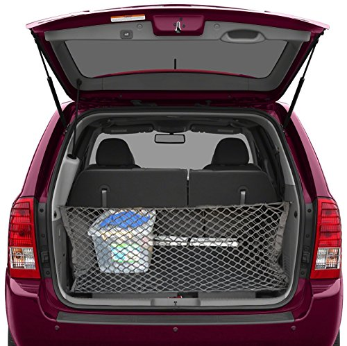 (lebogner Trunk Storage Net by Car Trunk Organizer, Mesh Net Hammock Cargo Storage Vehicle Organizer with 3 Mounting Options, Premium Quality Universal Fit Car Organizer)