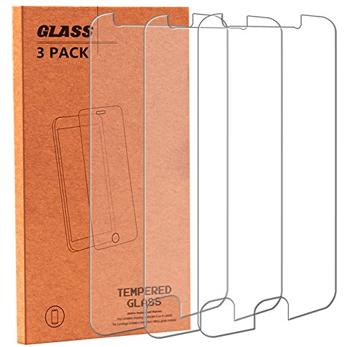 Moto E4 Plus Screen Protector, NOKEA Tempered Glass with [9H Hardness] [Crystal Clear] [Easy Bubble-Free Installation] [Scratch Resist] for Motorola Moto E4 Plus 2017 Released (3 Pack) 4g Protector Case Cover