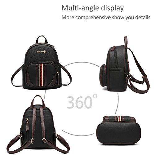 sac DORIS dos à de Casual NICOLE la sac d'école PU amp; Noir dos à cuir mode classique sac en des femmes mignon souple wtXqX5