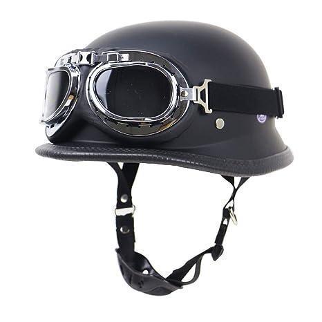Handmade Leather Motorcycle Helmet Open Face Scooter Cruiser Street Bike Helmet