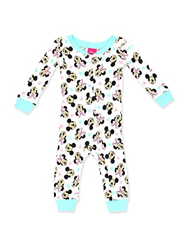 Disney Baby Girls Minnie Mouse Cotton Non-Footed Pajama, Love, 18M -