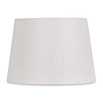 Adesso 10 Inch Burlap Fabric Drum Lamp Shade In White