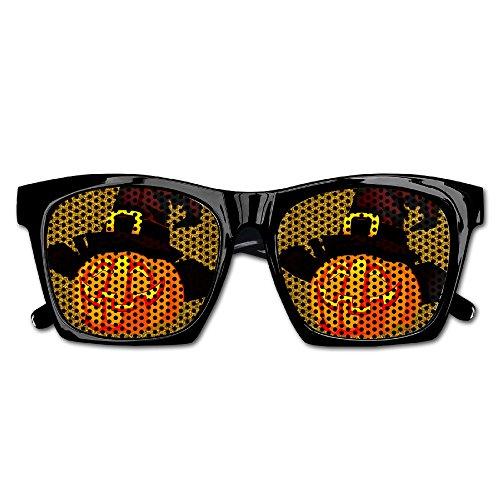 DaleSuSu Unisex Halloween Pumpkin Witch Hat Retro Party Glasses Sunglasses Costume (Halloween Contact Lenses Uk)