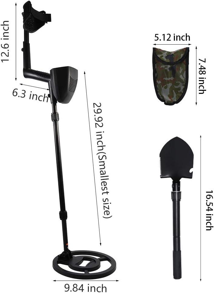 moderner Golddetektor dreifarbiger Audio unterscheidet verschiedene Metalle Golddetektor mit wasserdichter Suchspule InLoveArts Pr/äziser Metalldetektor mit LCD-Display inklusive Kopfh/örer
