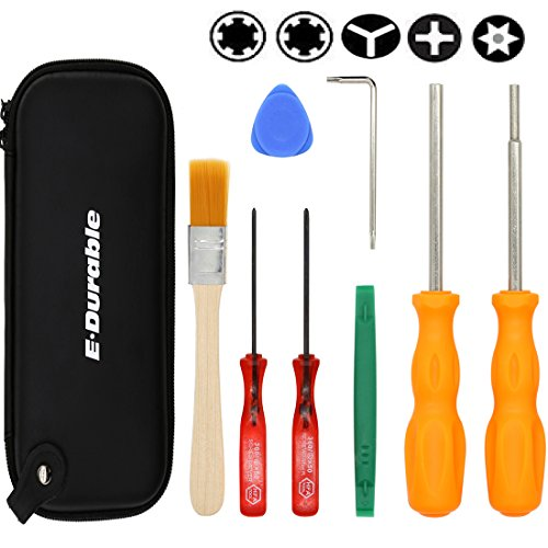 E.Durable Gamebit Set, 3.8mm and 4.5mm Security Screwdriver Game Bit Set for Sega Master Genesis 32x, NS Switch 3DS and N64 console, wii U, Game Cube (Kit Video Game)