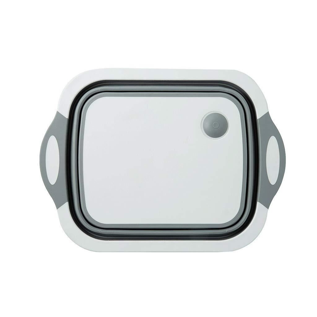 Multifunction Collapsible Colander Fruit Vegetable Washing Sink Drain Basket - Space Saving Design, Foldable Strainer by Mayunn