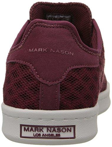 Marchio Nason Los Angeles Mens Estivo Moda Sneaker Borgogna