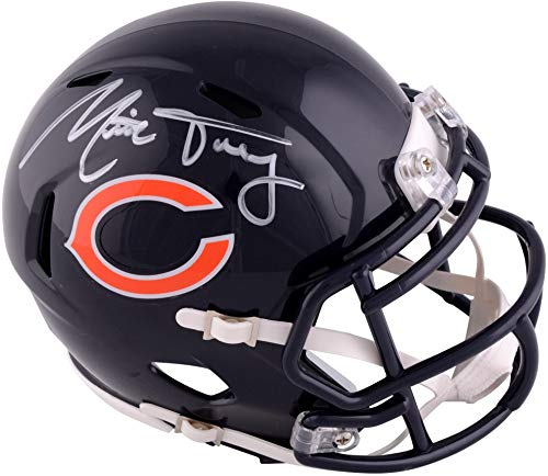 Mitchell Trubisky Chicago Bears Autographed Riddell Speed Mini Helmet - Fanatics Authentic Certified