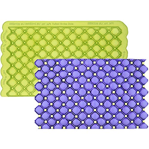 Marvelous Molds Tufted Swiss Dot Simpress Silicone Mold | Cake Decorating | Fondant Gum Paste Icing | Soap Making | Ceramic Art ()