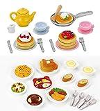omelet rice pan - 2 Play Food Sets Together - Lunch Set & Fluffy Pancake Sets (Japan Import)