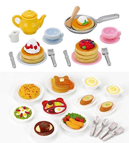 - 2 Play Food Sets Together - Lunch Set & Fluffy Pancake Sets (Japan Import)