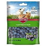 Kaytee Fiesta Blueberry Flavor Yogurt Dipped Treats for Hamster, Gerbil, Rat and Mouse, 3.5-oz bag