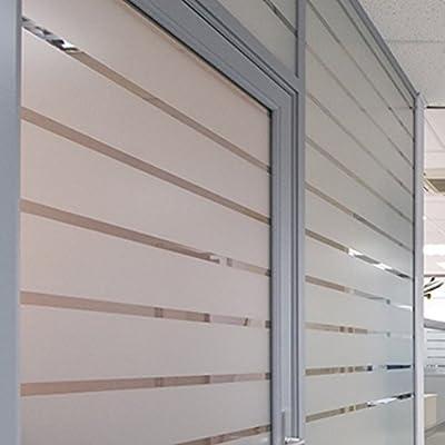 Tira de vinilo acido arenado traslucido para cristal, mampara, ventana, etc. Medida: 20x300cm: Amazon.es: Hogar