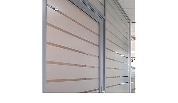 Tira de vinilo acido arenado traslucido para cristal, mampara, ventana, etc. Medida: 20x2000cm: Amazon.es: Hogar
