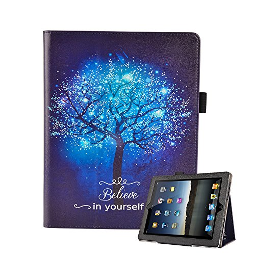 iPad 2/3/4 Case – UrSpeedtekLive Premium PU Leather Folio Stand Smart Case Cover w/ Auto Wake / Sleep for Apple iPad 2, iPad 3 & iPad 4th Generation with Retina Display,Believe in yourself