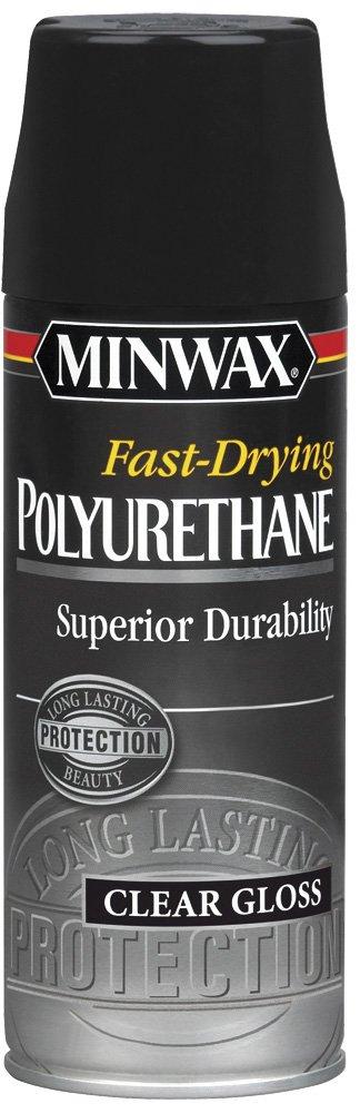 Minwax 33050000 Fast-Drying Polyurethane Aerosol, 11.5 ounce, Gloss