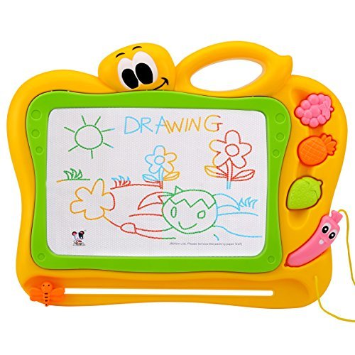 Erasable Slate (TONOR Non-toxic Erasable Kids Magnetic Drawing Board / Pro Magna Doodle Sketch / Colorful Toddler Toys Gift for Children Painting Writing Playing)