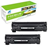 AZTECH 2 Pack 1,600 Pages Yield Black Compatible Toner Cartridge Replaces HP CE285A CE285 85A Used For HP LaserJet Pro P1102 P1102W P1100 M1212NF M1217NFW MF3010 M1210 M1132 Printer