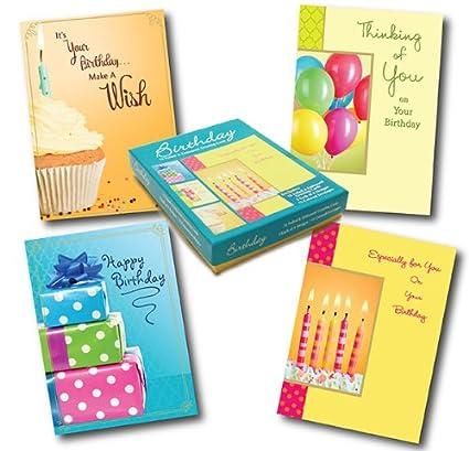 Amazon designer greetings birthday greeting card assortment designer greetings birthday greeting card assortment box of 12 cards and 13 colored envelopes m4hsunfo