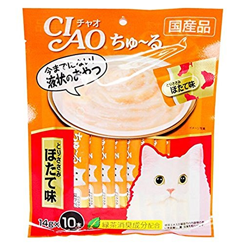 [100 Pcs X 14g. (Chicken) Ciao CAT Snack Liquid Cat Gosh Tutsis Kyun (Japan Cat Snack)] (Party Supplies Hobart)