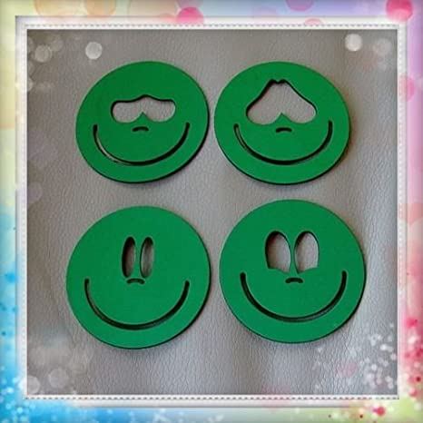 Plantillas para pintar caras de fofuchas para bolas de porex de 7 cm: Amazon.es: Hogar