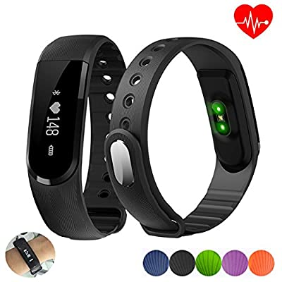 ID101 HR Smart Wristband Fitness Tracker Bracelet Heart Rate Monitor Bluetooth 4.0 Sport Activity Smart Band Remote Music Control Smartband for Android iOS Smartphones
