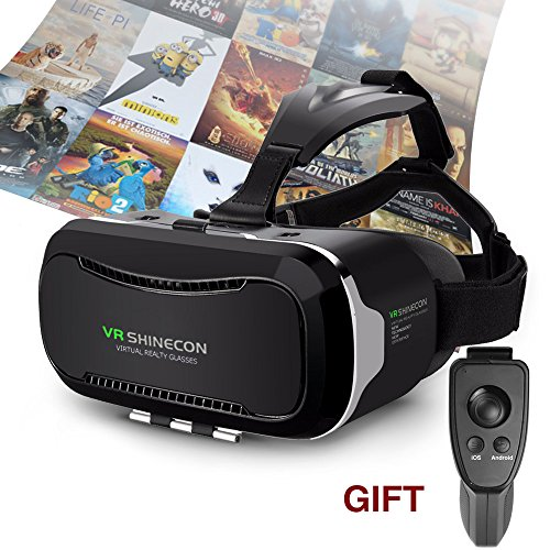 VR Headset Vnice 3D VR Headset (2nd) Upgraded and Much Lighter Version 3D Videos Games VR Headset For IPhone 7 6 6s 5 5s 6s Plus Samsung S3 Edge Note 4(4-5.5) Inch Usually Smartphone(black)