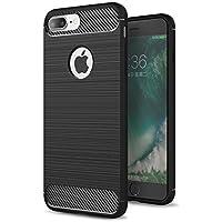 RKINC Case for Apple iPhone 6 Plus 6S Plus,TPU Cover Ultra Thin, Lightweight Carbon Fiber design Flexible Bumper Rubber Protective Case forApple iPhone 6 Plus 6S Plus, Black
