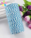100m/roll 1.5mm Many Colors Cotton Bakers Twine Stripe Line for Wedding Party Favour Gift Craft Package Supplies