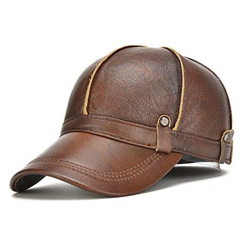 de hombre gorros la oído Invierno Yellow de del tapa los de ancianos sombreros hombres engrosamiento caliente piel cúpula algodón marrón aire Brown libre de beanie de al los XtqdwSwU