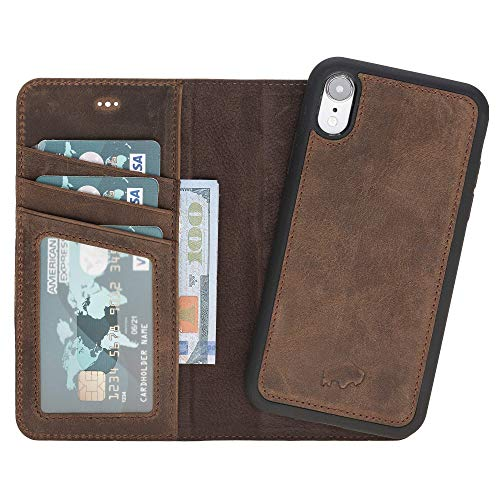 Burkley Case Detachable Leather Wallet Case for Apple iPhone XR (6.1