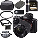 Sony ILCE7M2K/B Alpha a7 II Mirrorless Digital Camera with FE 28-70mm f/3.5-5.6 OSS Lens + NP-FW50 Lithium Ion Battery + Sony 64GB SDXC Card + HDMI Cable + Case + Remote + Memory Card Wallet Bundle