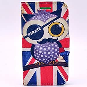 The British Pirate Owl Pattern PU Leather Soft Case with Stand and Card Slot for Motorala Moto G