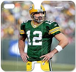 Premium Flip Ultra Slim Aaron Rodgers-5 iPhone 5 5S Leather Flip Case