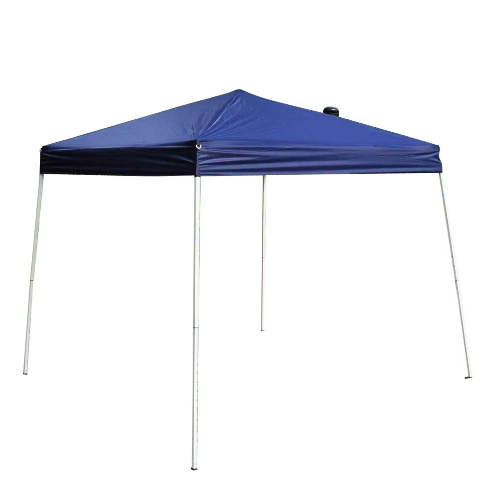 Z ZTDM 8.2' x 8.2' Outdoor Pop-Up Canopy, Folding Tent Portable Pergola Commercial Wedding Party BBQ Event, Sunshade Waterproof Heavy Duty Blue