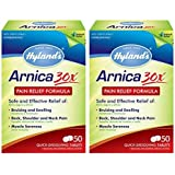 Hyland's Arnica Tablets 30X, Natural Homeopathic Relief of Bruising and Pain, 50 Count (2 Count)
