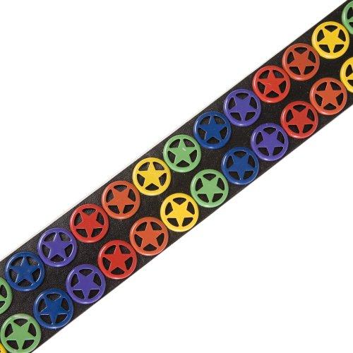 Sélection De Une Étoiles Forme Multicolores Accessoryo Disponible Ceinture Symboles En Shérif Noire Tailles Dans Cloutée wFYT4nxS