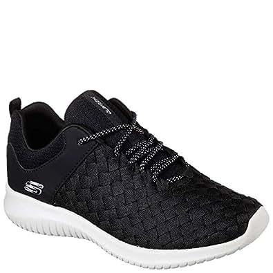Skechers Ultra Flex Weave Away Womens Sneakers Black/White 5