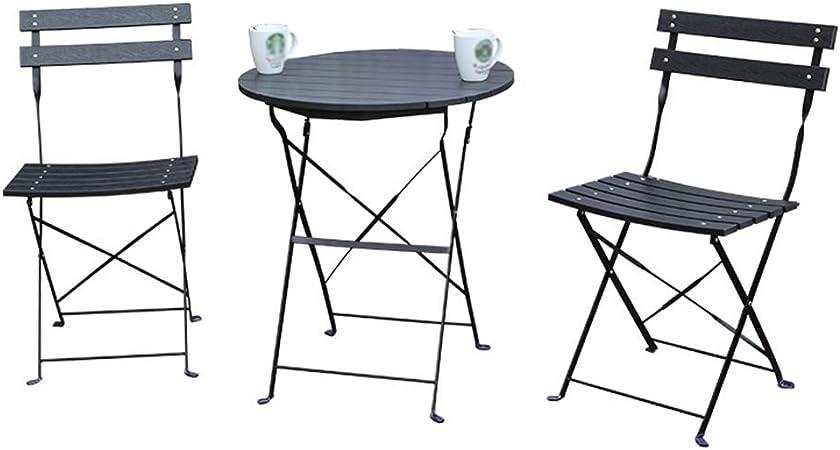 Tavoli Da Giardino Pieghevoli Plastica.Tavolo E Sedia Da Giardino Con Balcone 3 Pezzi In Metallo