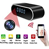 MINGYY 1080P Spy Clock Camera Wireless Hidden Camera WiFi Night Vision Camcorder Motion Detection Camera Pet Kids Office Nanny Cams Home Surveillance Cameras