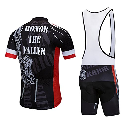 Cycling Jersey and Bib Shorts Set Men Breathable Bike Shirt Summer Outdoor Youth Bicycle Clothing (All Weather Bib)