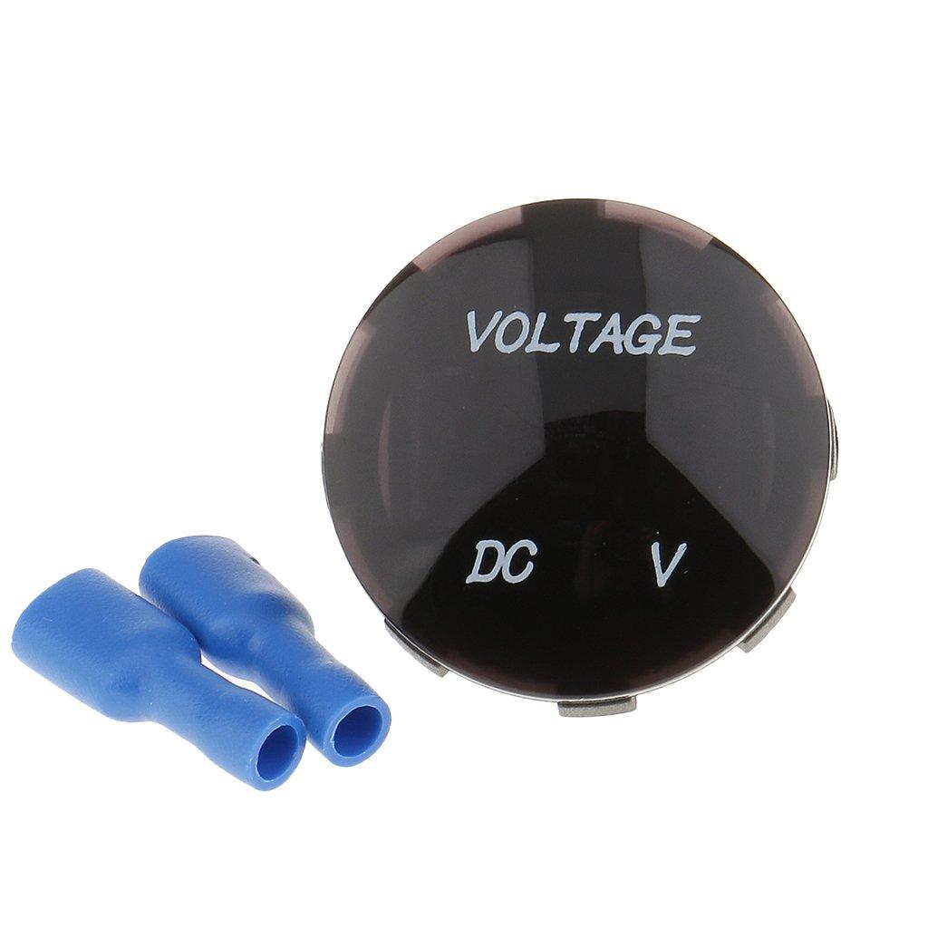 MagiDeal Voltm/ètre num/érique Affichage LED Pour Moto Bleu