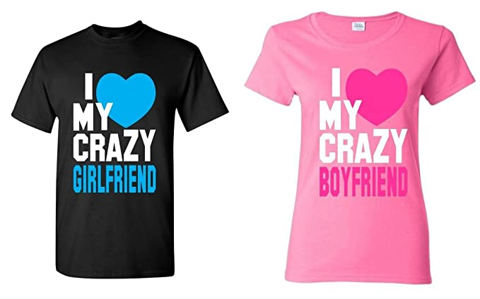 Amazoncom Shop4ever I Love My Crazy Girlfriend Boyfriend Couples