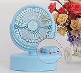 AJZGF Mini fan, USB fan, rechargeable, portable cooling, portable small fan. (Color : Blue)