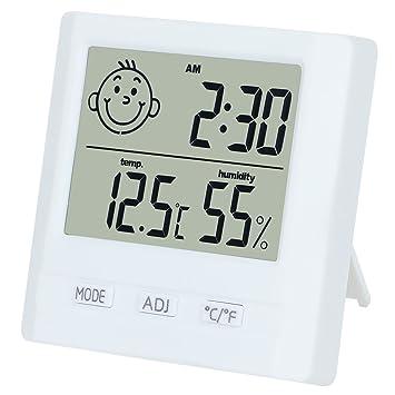 Dekool Higrómetro Termómetro Digital, Monitor de Humedad Interior, Temperatura Digital, Estación Meteorológica con