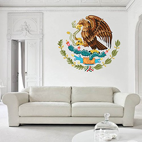 Mexico Coat of Arms Vinyl Decal Wall, Car, Laptop - 18 inch by Frankies Cajun Customs