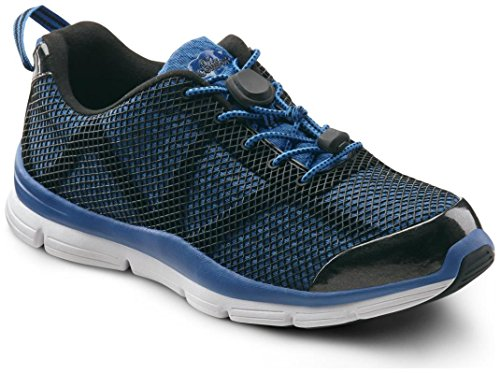 09 Running Shoe (Dr. Comfort Jason Men's Therapeutic Extra Depth Athletic Shoe: Blue 9 X-Wide (3E/4E) Lace)